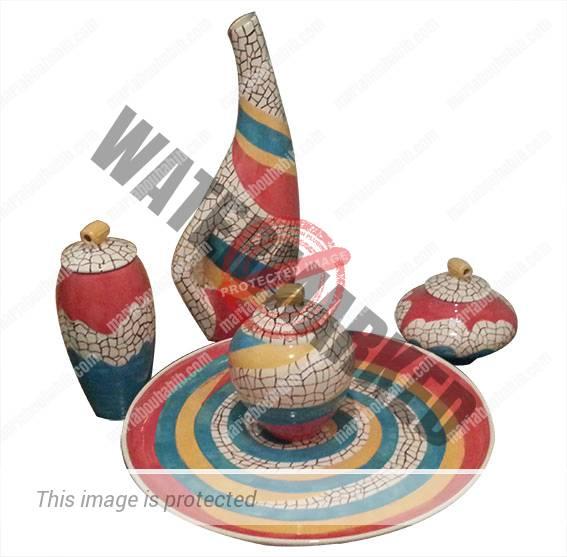 Ceramic set of 5 pieces